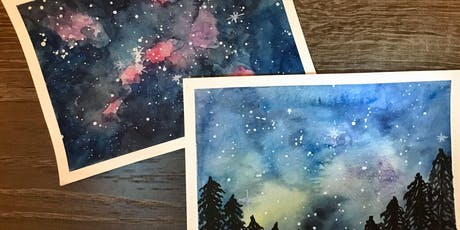 Young Artists - Ages 9-12 - Paint the Galaxy with Sarah tickets