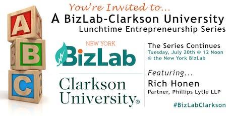 BizLab-Clarkson Lunchtime Entrepreneurship Series featuring Rich Honen tickets