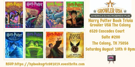 Harry Potter Book Trivia at Growler USA The Colony tickets