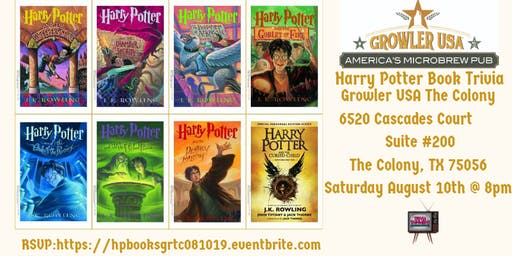 Harry Potter Book Trivia at Growler USA The Colony