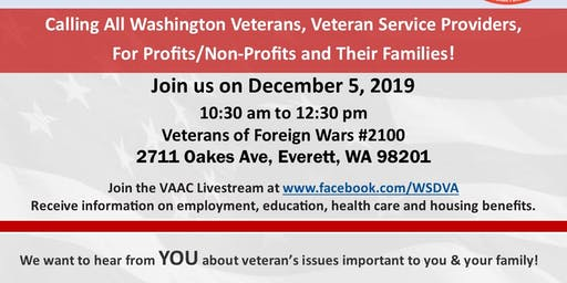 Everett Veterans Town Hall - Governor's Veterans Affairs Advisory Committee