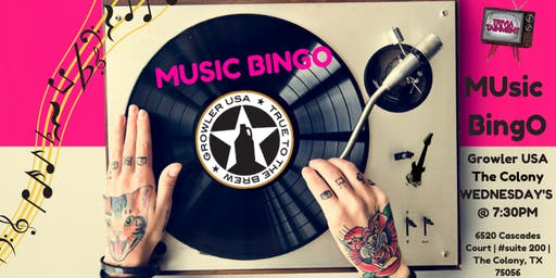 MUsic BingO at Growler USA The Colony