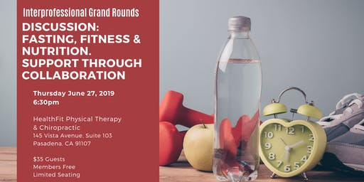 Interprofessional Grand Rounds: Fasting, Fitness and Nutrition, Support Through Collaboration