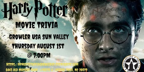 Harry Potter Movies Trivia at Growler USA Sun Valley tickets
