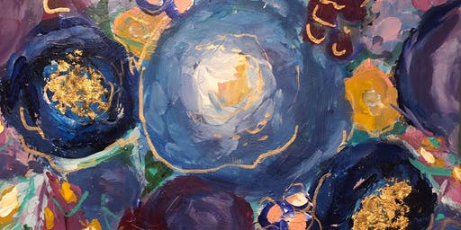 Back to school  Playful Painting  - Abstract Floral Class