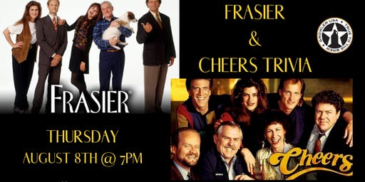 Frasier/Cheers Trivia at Growler USA Sun Valley
