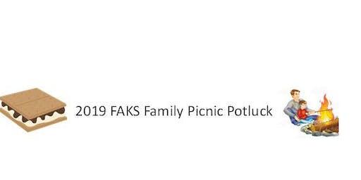 2019 FAKS Family Potluck