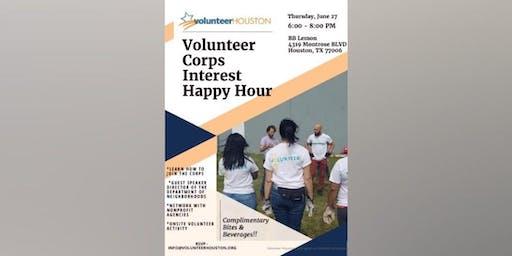 Volunteer Corp Interest Happy Hour