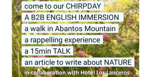 CHIRPDAY (I wish to speak a word for Nature)