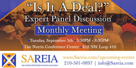 """Monthly Meeting - """"Is It a Deal?: Wholesaling in San Antonio"""" tickets"""