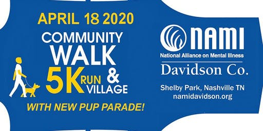 2020 NAMI DAVIDSON WALK, 5K & VILLAGE WITH NEW PUP PARADE SPONSOR REGISTRATION