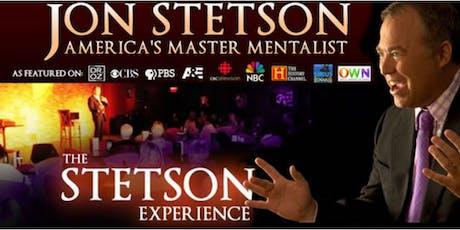 "Psychic Comedy: Jon Stetson ""America's Master Mentalist"" tickets"