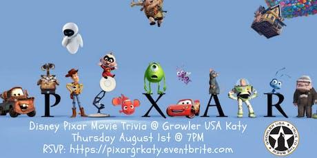 Disney Pixar Movie Trivia at Growler USA Katy tickets