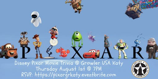 Disney Pixar Movie Trivia at Growler USA Katy