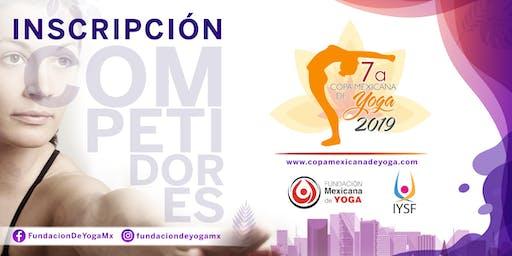7a Copa Mexicana de Yoga Registro Competidores