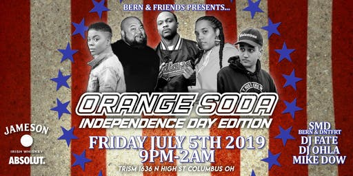 Orange Soda; 2000s Hiphop and R&B Dance Party Independence Day Edition