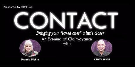 Contact Clairvoyant Evening With Brenda Diskin, Danny Lewis, Joan Rutter and Guest tickets