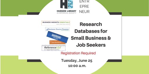 Research Databases for Small Business & Job Seekers