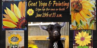 SunFlower Goat Yoga & Paint Party