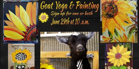 SunFlower Goat Yoga & Paint Party tickets