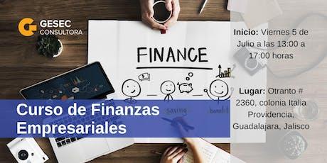 Curso de Finanzas Empresariales entradas