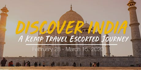 Escorted India Tour - Information Night tickets