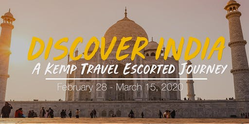 Escorted India Tour - Information Night