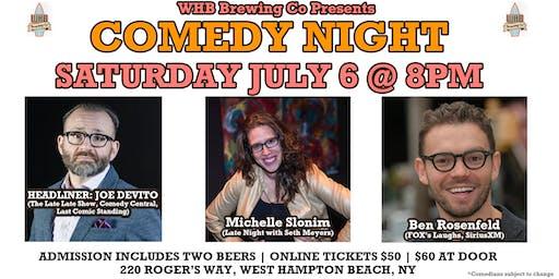 Comedy Night w/ Comedy Central's Joe DeVito @ WHB Brewing Co