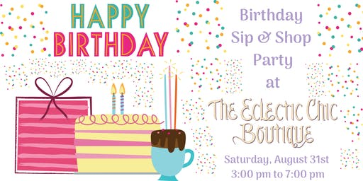 Birthday Sip & Shop Party