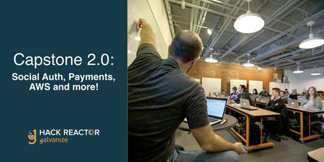 Capstone 2.0: Social Auth, Payments, AWS and more! tickets