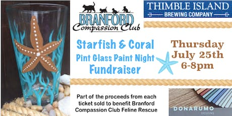 Starfish & Coral Pint Glass Paint Night Fundraiser tickets