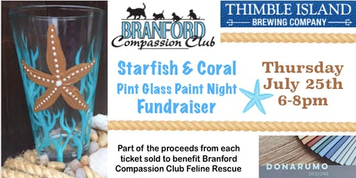 Starfish & Coral Pint Glass Paint Night Fundraiser