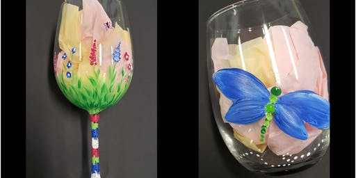 Glass Painting-Dragonflies or Flowers