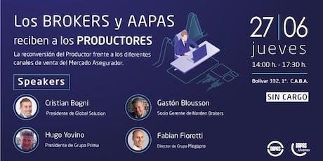 Los Brokers y AAPAS reciben a los Productores entradas