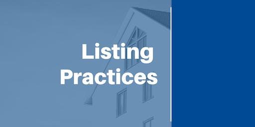 Listing Practices (12 CEUs #256-003-PL) (Prelicense or Elective)