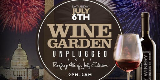 CITY WINERY UNPLUGGED POST 4TH OF JULY ROOF TOP EDITION, SAT JULY 6TH