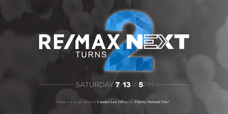 RE/MAX NEXT 2nd Anniversary Party tickets