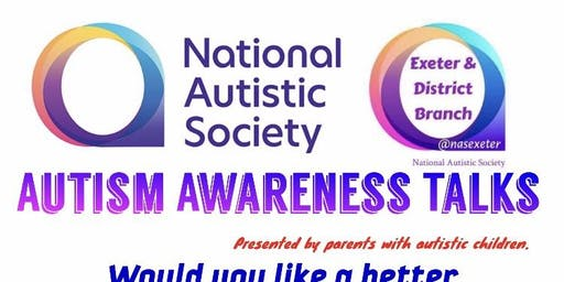 Autism Awareness Talk by National Autistic Society Exeter Branch