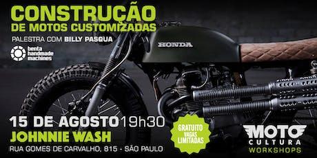 Palestras: Construção de Motocicletas Customizadas ingressos