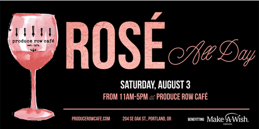 Rosé All Day at Produce Row Cafe