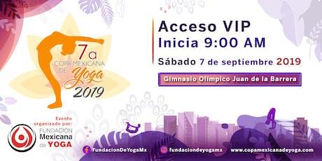 7a Copa Mexicana de Yoga 2019 Acceso VIP entradas
