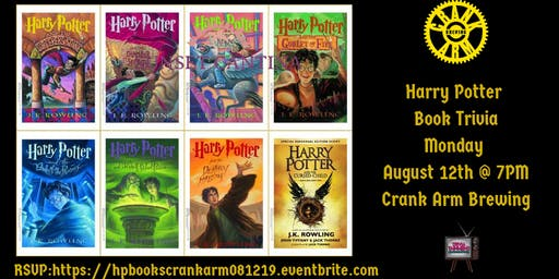 Harry Potter Books Trivia at Crank Arm Brewing