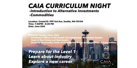 CAIA: Introduction to Alternative Investments: Commodities with Cecelia Chen tickets