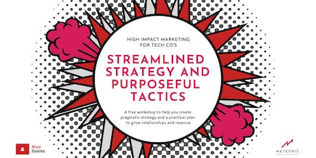 Hi-impact marketing for tech co : Streamlined strategy & purposeful tactics tickets
