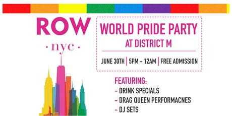 World Pride Party @District M tickets
