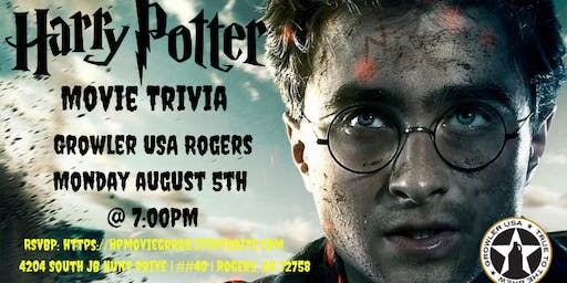 Harry Potter Movie Trivia at Growler USA Rogers
