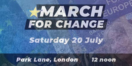 Coach to the March for Change from Banbury & Bicester tickets