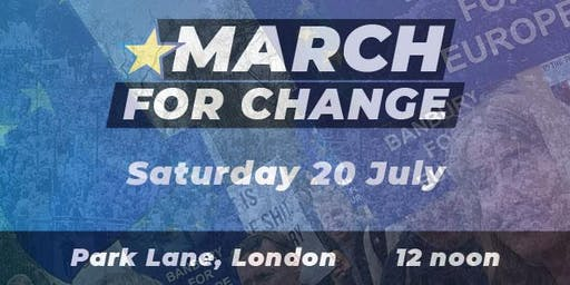 Coach to the March for Change from Banbury & Bicester