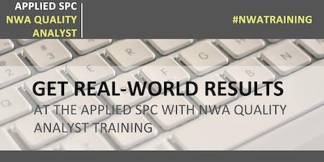 Applied SPC with NWA Quality Analyst tickets