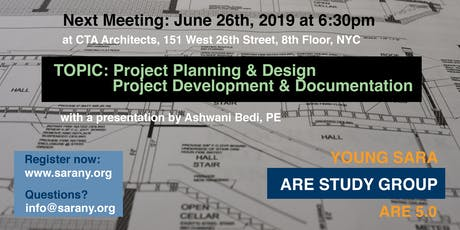 SARA NY ARE Presentation: Project Planning Design Development Documentation tickets